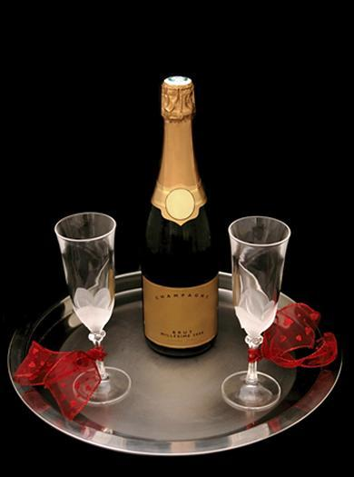Champagne always makes it more romantic